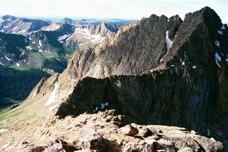 Crossing the catwalk to Mount Eolus, Colorado - YouTube